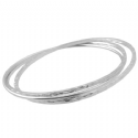 Silver Multi Bangles & 3 Name Tags
